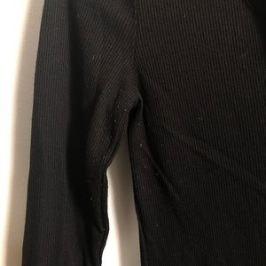 Old Navy Tops - Old Navy Black Ribbed Henley Long Sleeve Tee XS